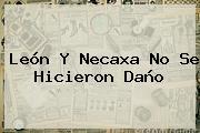 <b>León</b> Y <b>Necaxa</b> No Se Hicieron Daño