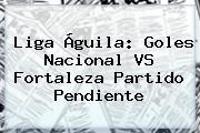 <b>Liga Águila</b>: Goles Nacional VS Fortaleza Partido Pendiente