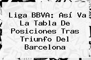 <b>Liga BBVA</b>: Así Va La Tabla De Posiciones Tras Triunfo Del Barcelona
