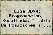 <b>Liga BBVA</b>: Programación, Resultados Y <b>tabla De Posiciones</b> Y <b>...</b>