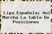 <b>Liga Española</b>: Así Marcha La <b>tabla De Posiciones</b>