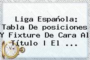 <b>Liga</b> Española: Tabla De <b>posiciones</b> Y Fixture De Cara Al Título | El <b>...</b>