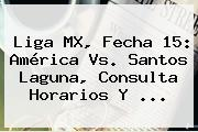 Liga MX, Fecha 15: <b>América Vs. Santos</b> Laguna, Consulta Horarios Y ...