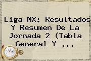 <b>Liga MX</b>: Resultados Y Resumen De La Jornada 2 (<b>Tabla General</b> Y ...