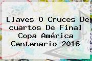 Llaves O Cruces De <b>cuartos De Final Copa América</b> Centenario 2016
