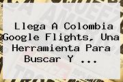 Llega A Colombia <b>Google Flights</b>, Una Herramienta Para Buscar Y ...
