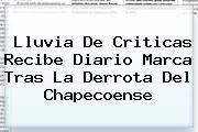 Lluvia De Criticas Recibe Diario <b>Marca</b> Tras La Derrota Del Chapecoense
