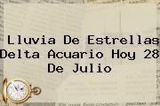 <b>Lluvia De Estrellas</b> Delta Acuario Hoy 28 De Julio