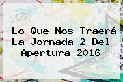 Lo Que Nos Traerá La <b>Jornada 2</b> Del Apertura <b>2016</b>