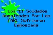 Los 11 Soldados Asesinados Por Las FARC Sufrieron Emboscada