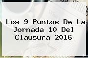 Los 9 Puntos De La <b>Jornada 10</b> Del Clausura <b>2016</b>