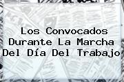 Los Convocados Durante La Marcha Del <b>Día Del Trabajo</b>