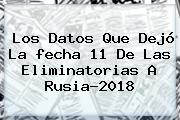 Los Datos Que Dejó La <b>fecha</b> 11 De Las <b>Eliminatorias</b> A <b>Rusia</b>-<b>2018</b>