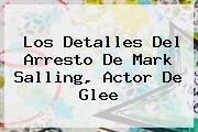 Los Detalles Del Arresto De <b>Mark Salling</b>, Actor De Glee