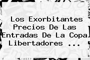 Los Exorbitantes Precios De Las Entradas De La <b>Copa Libertadores</b> ...