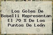 Los Goles De Boselli Representan El 70 % De Los Puntos De <b>León</b>