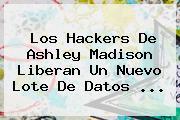 Los Hackers De <b>Ashley Madison</b> Liberan Un Nuevo Lote De Datos <b>...</b>