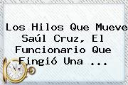Los Hilos Que Mueve <b>Saúl Cruz</b>, El Funcionario Que Fingió Una ...