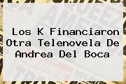 Los K Financiaron Otra Telenovela De Andrea Del Boca