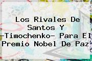 Los Rivales De Santos Y ?<b>Timochenko</b>? Para El Premio Nobel De Paz