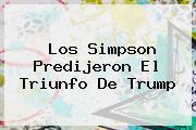 <b>Los Simpson</b> Predijeron El Triunfo De Trump