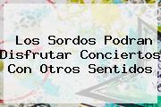 <b>Los Sordos Podran Disfrutar Conciertos Con Otros Sentidos</b>