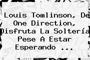 <b>Louis Tomlinson</b>, De One Direction, Disfruta La Soltería Pese A Estar Esperando <b>...</b>
