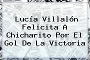 <b>Lucía Villalón</b> Felicita A Chicharito Por El Gol De La Victoria