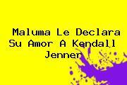 Maluma Le Declara Su Amor A <b>Kendall Jenner</b>