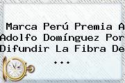 <b>Marca</b> Perú Premia A Adolfo Domínguez Por Difundir La Fibra De ...