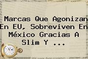 Marcas Que Agonizan En EU, Sobreviven En <b>México</b> Gracias A Slim Y <b>...</b>