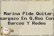 Marina Pide Quitar <b>sargazo</b> En Q.Roo Con Barcos Y Redes