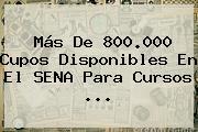 Más De 800.000 Cupos Disponibles En El <b>SENA</b> Para Cursos <b>...</b>