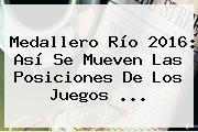 <b>Medallero</b> Río <b>2016</b>: Así Se Mueven Las Posiciones De Los Juegos ...