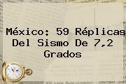 <b>México</b>: 59 Réplicas Del Sismo De 7,2 Grados