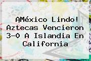 ¡<b>México</b> Lindo! Aztecas Vencieron 3-0 A Islandia En California