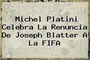 Michel Platini Celebra La Renuncia De <b>Joseph Blatter</b> A La FIFA