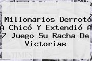 <b>Millonarios</b> Derrotó A Chicó Y Extendió A 7 Juego Su Racha De Victorias