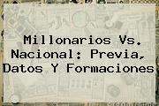 <b>Millonarios Vs</b>. <b>Nacional</b>: Previa, Datos Y Formaciones