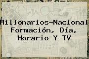 <b>Millonarios</b>-<b>Nacional</b>: Formación, Día, Horario Y TV