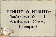 MINUTO A MINUTO: <b>América</b> 0 - 1 <b>Pachuca</b> (1er. Tiempo)