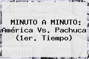 MINUTO A MINUTO: <b>América Vs</b>. <b>Pachuca</b> (1er. Tiempo)