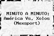 MINUTO A MINUTO: <b>América Vs</b>. <b>Xolos</b> (Mexsport)