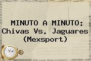 MINUTO A MINUTO: <b>Chivas Vs. Jaguares</b> (Mexsport)
