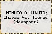 MINUTO A MINUTO: <b>Chivas Vs. Tigres</b> (Mexsport)