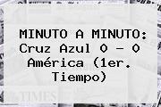 MINUTO A MINUTO: <b>Cruz Azul</b> 0 - 0 <b>América</b> (1er. Tiempo)