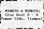 MINUTO A MINUTO: <b>Cruz Azul</b> 0 - 0 <b>Pumas</b> (2do. Tiempo)