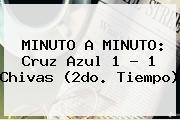 MINUTO A MINUTO: <b>Cruz Azul</b> 1 - 1 <b>Chivas</b> (2do. Tiempo)