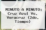 MINUTO A MINUTO: <b>Cruz Azul Vs. Veracruz</b> (2do. Tiempo)