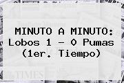 MINUTO A MINUTO: <b>Lobos</b> 1 - 0 <b>Pumas</b> (1er. Tiempo)
